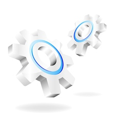 gears on a white background vector image