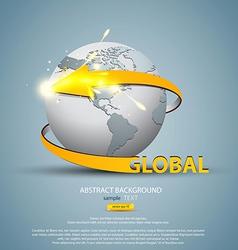 globe concept 3 vector image vector image