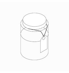 Jar with tag icon isometric 3d style vector image vector image