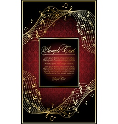 music vintage background vector image vector image