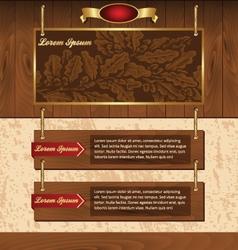 wooden background for website vector image vector image