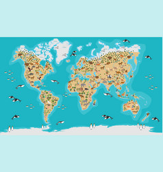 world map highly detailed vector image