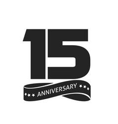 15 years anniversary celebrating logo icon vector image