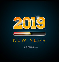 2019 new year coming with 3d number vector image