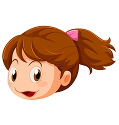 A head of a little girl vector image