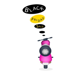 A Motorbike with Black Friday Sale Banner vector image
