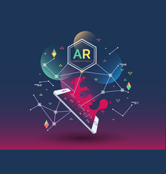 abstract creative with augmented vector image