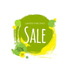 Advertising banner Sale 50 percent off Limited vector image