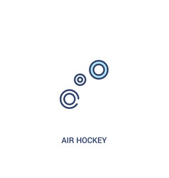 Air hockey concept 2 colored icon simple line vector