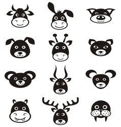 Animal labels vector