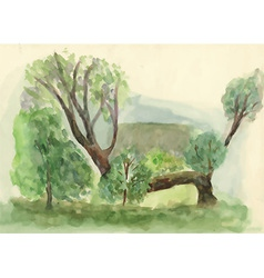 Artistic landscape design vector