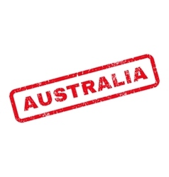 Australia Text Rubber Stamp vector