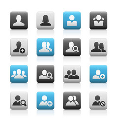 Avatar icons matte series vector