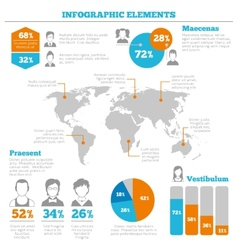 Avatar infographic elements layout vector