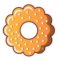 bagel icon cartoon style vector image
