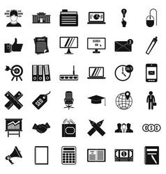 banking icons set simle style vector image