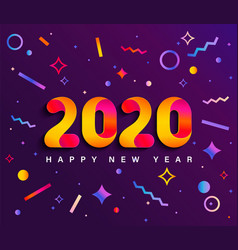 banner for 2020 insta new year vector image