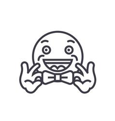 bow tie emoji concept line editable vector image