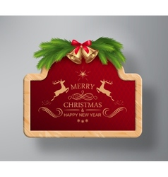 Christmas Frame Background vector image