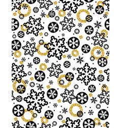 christmas pattern background with black vector image