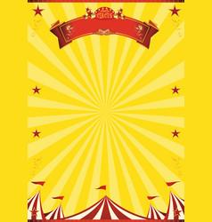 Circus yellow background vector
