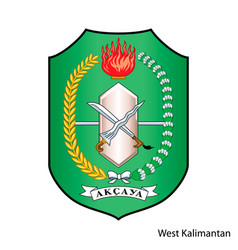 Coat arms west kalimantan is a indonesian vector