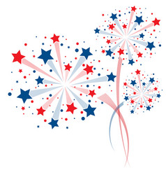 Colorful fireworks background vector