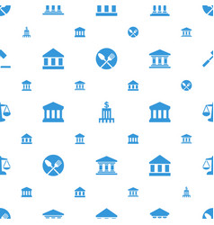 Court icons pattern seamless white background vector