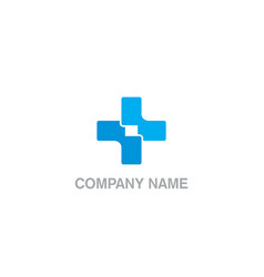 cross hospital business company logo vector image