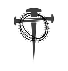 Cross nails vector