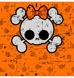 Cute halloween skull vector