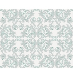 Damask floral ornament pattern vector image