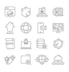 digital technology and networking security vector image