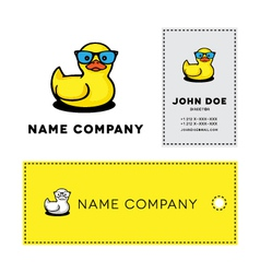 Duckling in sunglasses vector