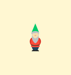 dwarf icon flat element of vector image