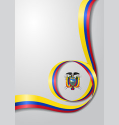 ecuadorian flag wavy background vector image