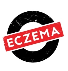 Eczema rubber stamp vector