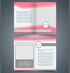 Empty bifold brochure template design vector
