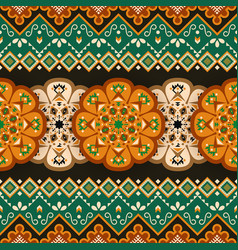 Ethnic seamless pattern mexican geometric print vector