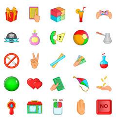 Feedback icons set cartoon style vector