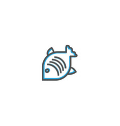 fish icon design gastronomy icon vector image