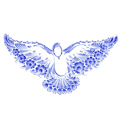 Floral decorative ornament dove peace vector