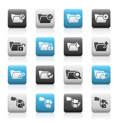 Folder Icons 1 Matte Series vector