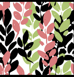 Foliage branches decorative leaves print vector