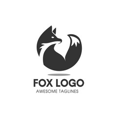fox circle symbol vector image