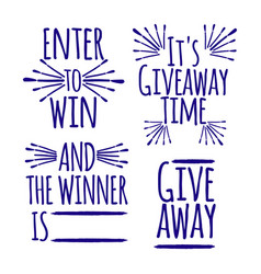 Giveaway set of banner concept for web gift card vector