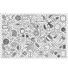 handmade doodle set vector image