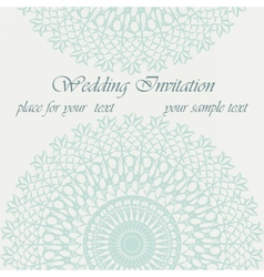 Invitation card with delicate ornament vector image