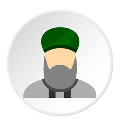 Islamic priest icon circle vector