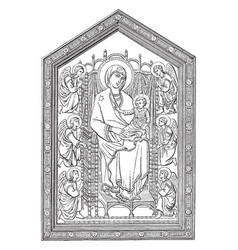 Madonna of the church of santa maria novella vector